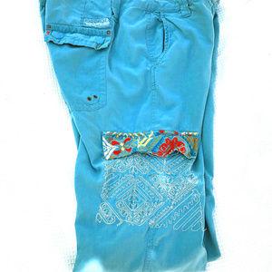 Da-Nang designer crop Cargo-style pants